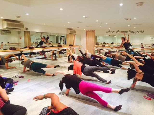 Full house - Barrecore class at Sweaty Betty Wimbledon