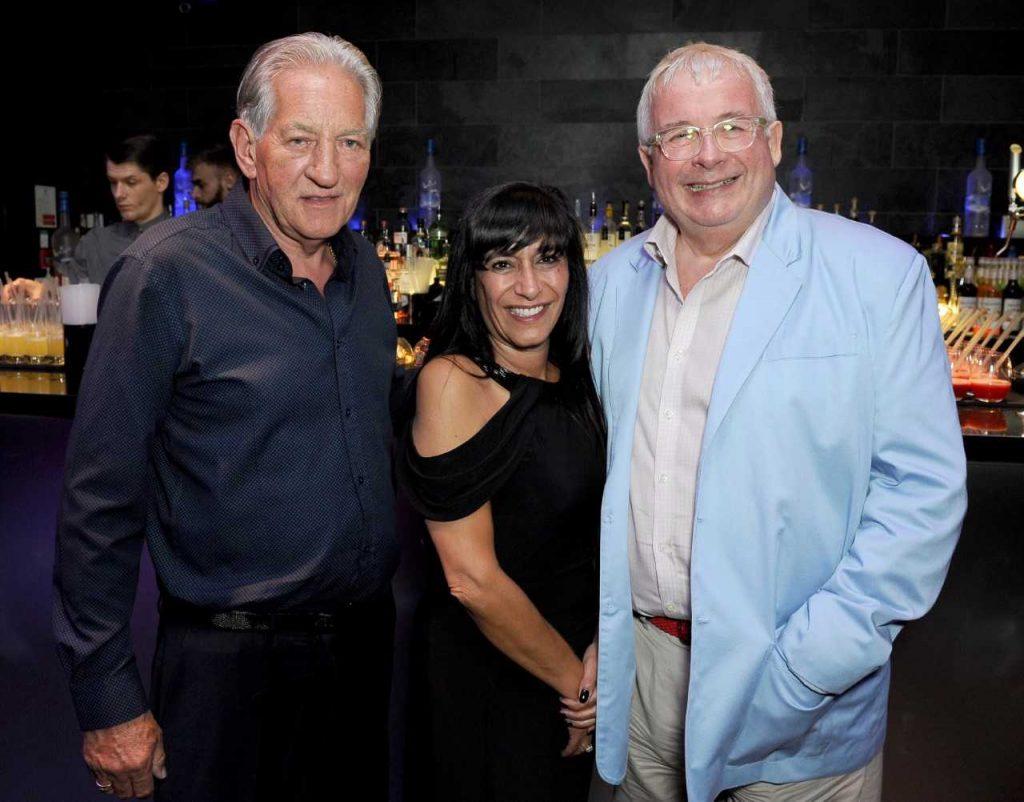 Photo of Paul Strank, Irene Strank and Christopher Biggins.