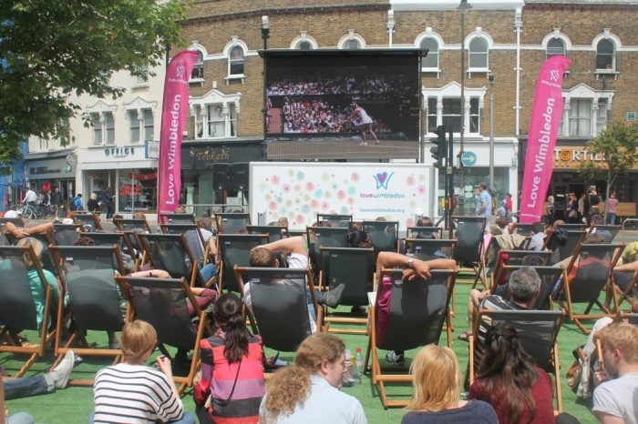 Watch the Tennis in central Wimbledon on the big screen