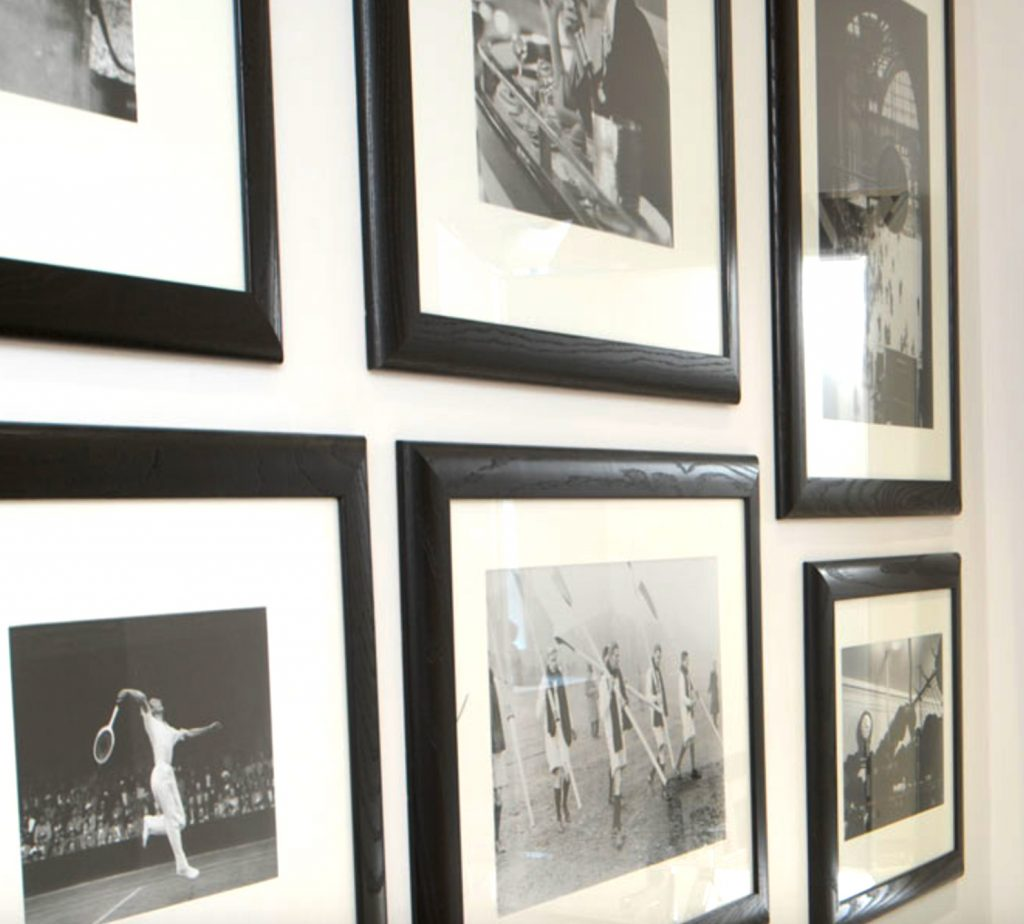 A photo wall in the house