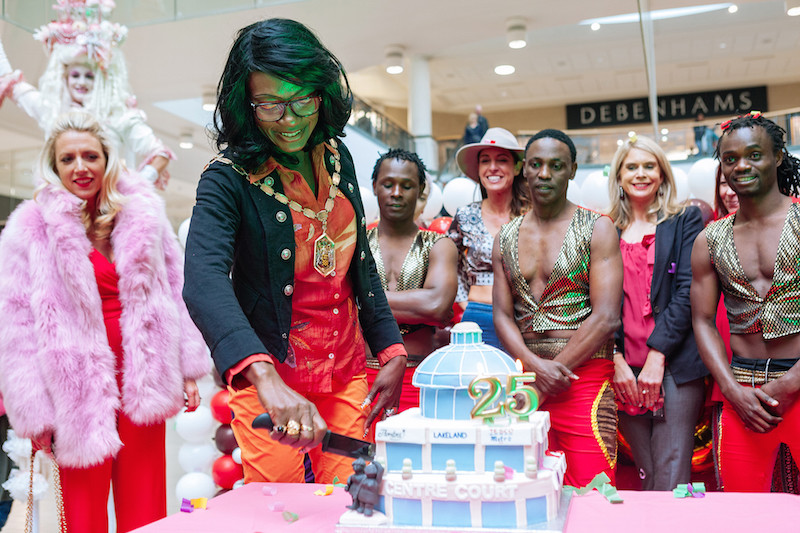 Centre Court 25th Birthday Party Celebrations Lady Wimbledon Mayor Lakeland Cake