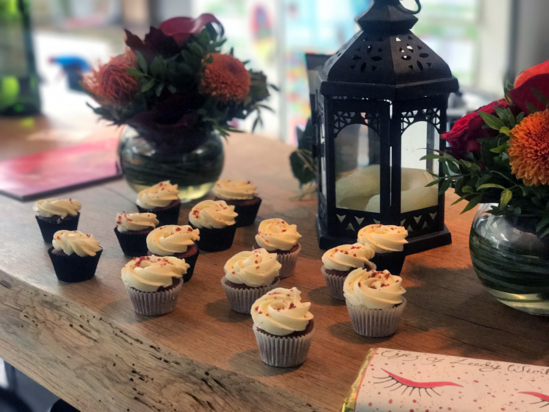 Lady Wimbledon Supper Club 2017 Dessert Cupcakes Red Velvet
