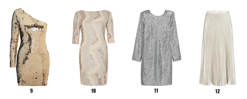 bf08af66d0acf Great for Christmas dinner parties and evening drinks. 9. Topshop one-shoulder  dress, £46. Golden goddess.