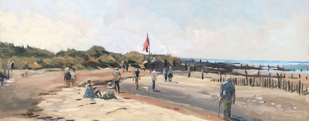 Painting of West Wittering by Sarah Manolescue