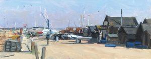 Wimbledon artist Sarah Manolescue Blackshore oil painting
