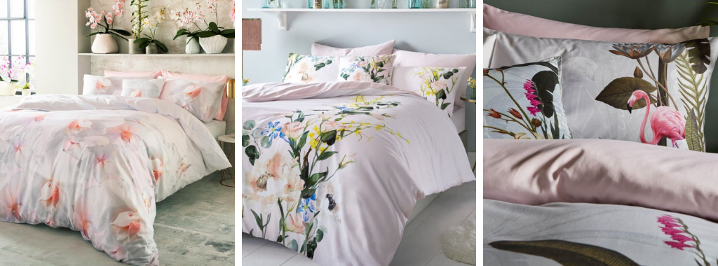 Spring interiors: floral bedding