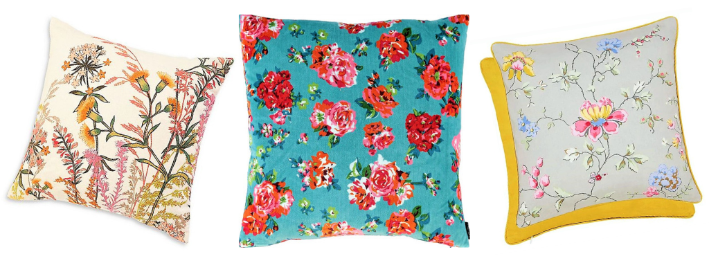 Spring cushions: floral trend
