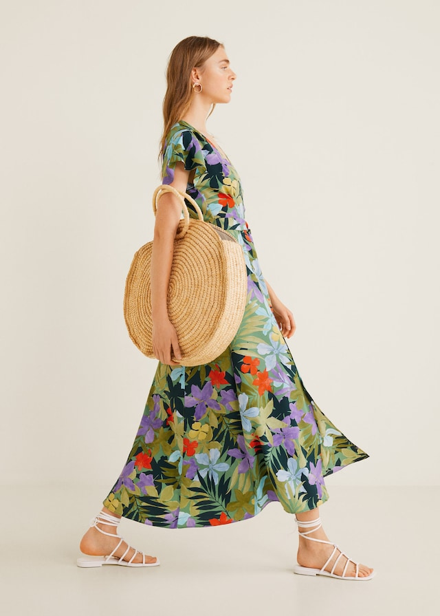 What to wear to Wimbledon Finals - tropical dress
