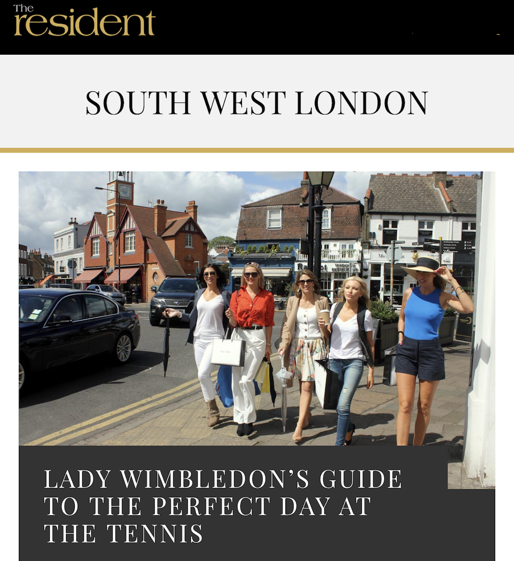 Lady Wimbledon's Article In The Resident Magazine — Lady