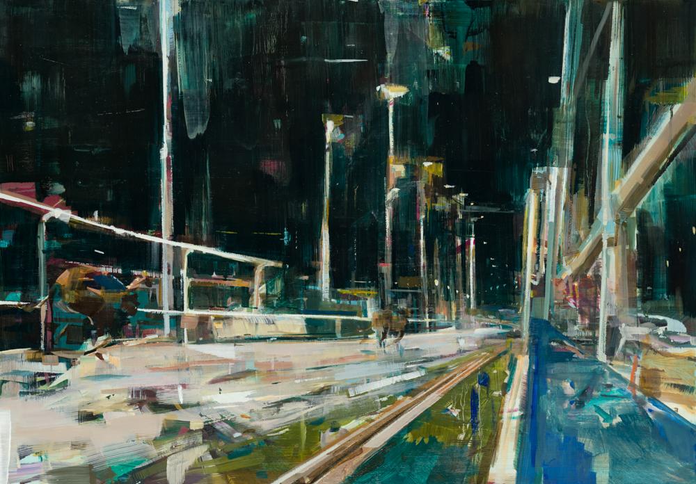 'Benson Express' Oil on Panel   Katharine Le Hardy