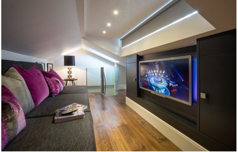 Family snug with home cinema – Kisiel Group Building Contractors London