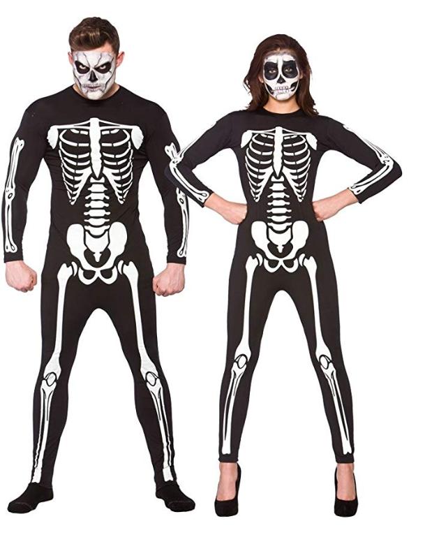 Unisex Skeleton Jumpsuit Costume for Halloween