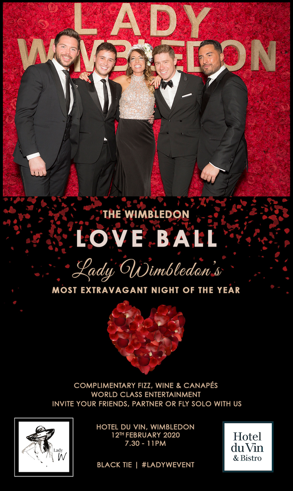 The Wimbledon Love Ball Invitation