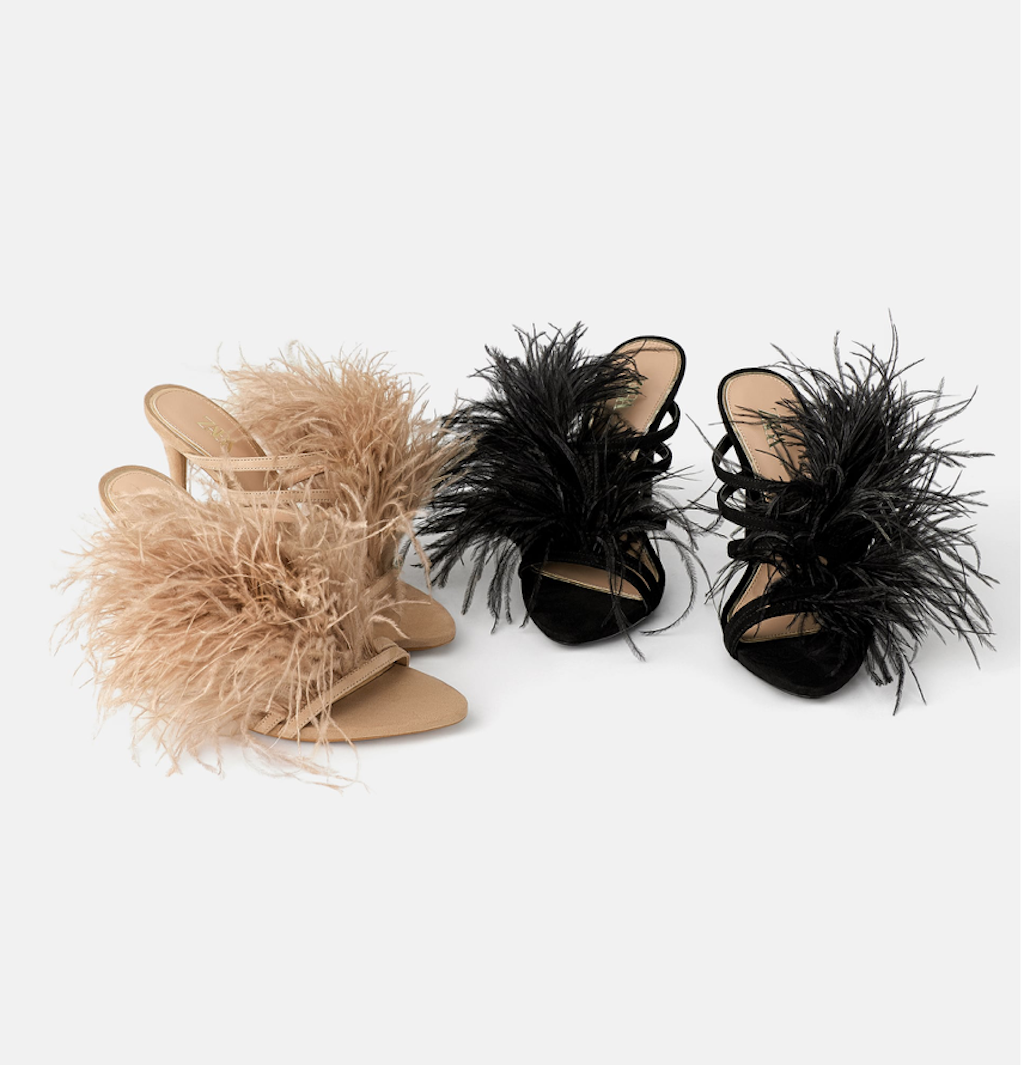 Zara Feather Shoes
