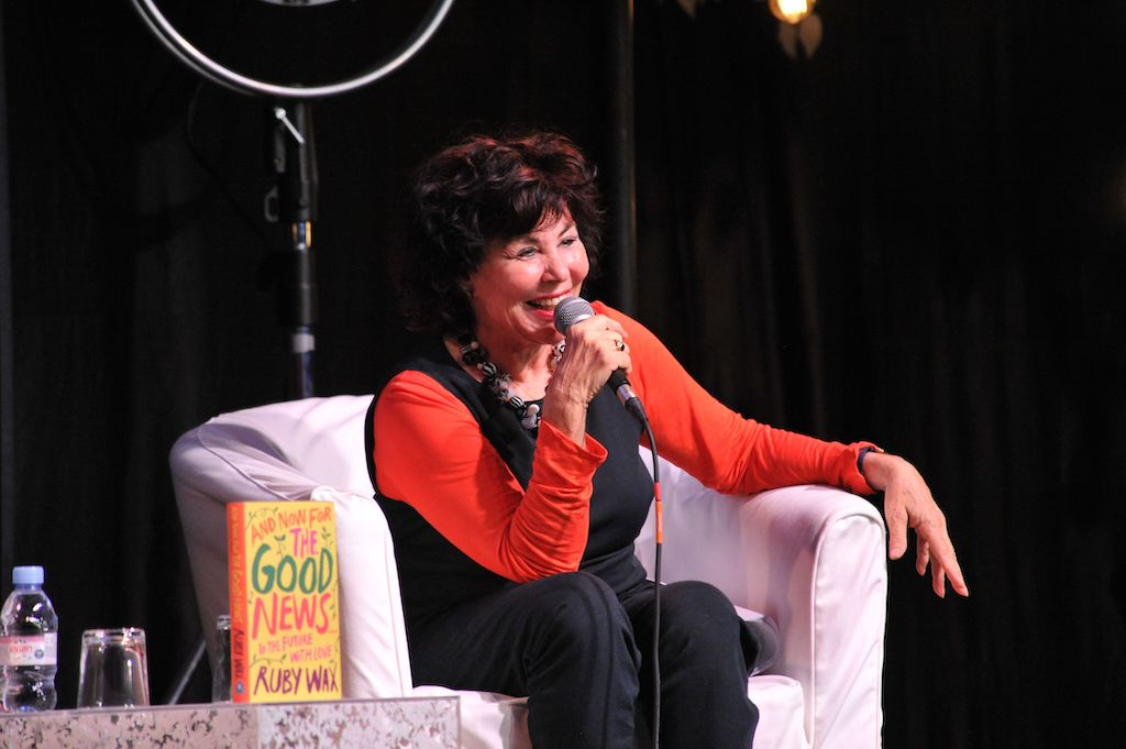 Ruby Wax at Wimbledon BookFest Digital